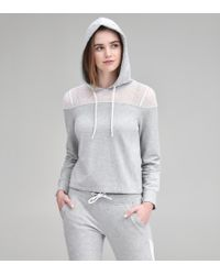 Andrew Marc - Mixed Media Hooded Pullover - Lyst
