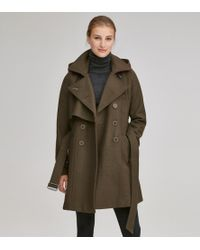 Andrew Marc - Rae Double Breasted Wool Coat - Lyst