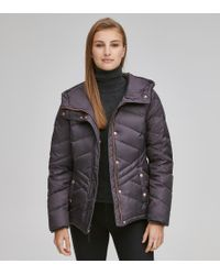 Andrew Marc - Mallory Chevron Quilted Down Coat - Lyst