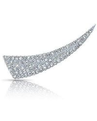 Anne Sisteron - 14kt White Gold Diamond Horn Ear Climber - Lyst