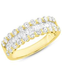 Anne Sisteron - 14kt Yellow Gold Baguette Diamond Luxe Ysabel Ring - Lyst