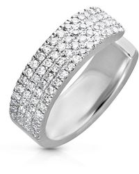 Anne Sisteron - 14kt White Gold Diamond Luxe Chloe Ear Cuff - Lyst