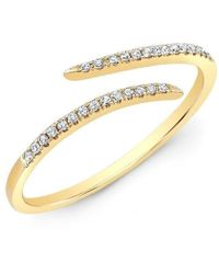 Anne Sisteron - 14kt Yellow Gold Diamond Open Embrace Ring - Lyst