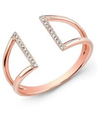 Anne Sisteron | 14kt Rose Gold Diamond Space Ring | Lyst