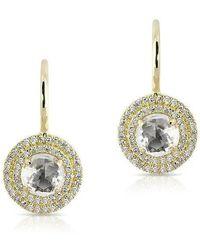 Anne Sisteron - 14kt Yellow Gold White Topaz Diamond Sonrisa Earrings - Lyst