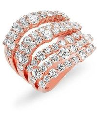 Anne Sisteron | 14kt Rose Gold Diamond Rock Ring | Lyst