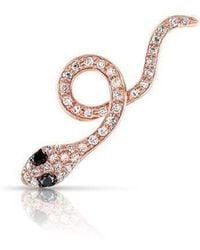 Anne Sisteron - 14kt Rose Gold Black Diamond Snake Ear Climber - Lyst