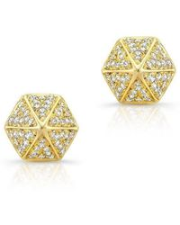 Anne Sisteron - 14kt Yellow Gold Diamond Olympia Studs - Lyst