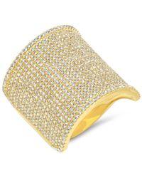 Anne Sisteron - 14kt Yellow Gold Diamond Roma Ring - Lyst
