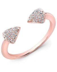 Anne Sisteron - 14kt Rose Gold Diamond Toro Ring - Lyst