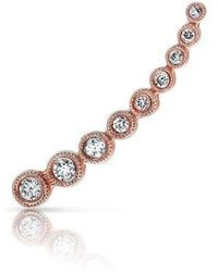 Anne Sisteron - 14kt Rose Gold Diamond Shooting Star Ear Climber - Lyst