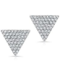 Anne Sisteron | 14kt White Gold Diamond Large Triangle Olivia Stud Earrings | Lyst