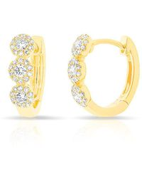 Anne Sisteron - 14kt Yellow Gold Diamond Mila Huggie Earrings - Lyst