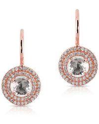Anne Sisteron - 14kt Rose Gold White Topaz Diamond Sonrisa Earrings - Lyst