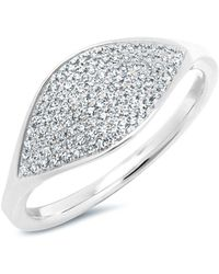 Anne Sisteron - 14kt White Gold Diamond Alissa Ring - Lyst