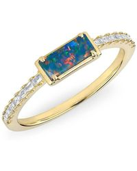 Anne Sisteron - 14kt Rose Gold Diamond Opal Maddie Diamond Ring - Lyst