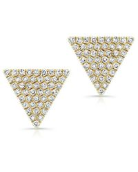 Anne Sisteron | 14kt Yellow Gold Diamond Large Triangle Olivia Stud Earrings | Lyst