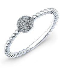 Anne Sisteron - 14kt White Gold Safety Pin Wrap Diamond Ring - Lyst