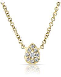 Anne Sisteron - 14kt Yellow Diamond Mini Pear Necklace - Lyst