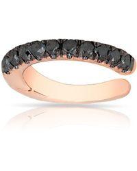 Anne Sisteron - 14kt Rose Gold Black Diamond Lola Hinge Ear Cuff - Lyst