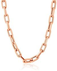 Anne Sisteron - 14kt Rose Gold Chain Link Luxe Lillian Necklace - Lyst