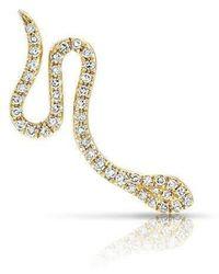 Anne Sisteron - 14kt Yellow Gold Diamond Snake Ear Climber - Lyst