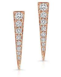 Anne Sisteron - 14kt Rose Gold Diamond Dagger Earrings - Lyst