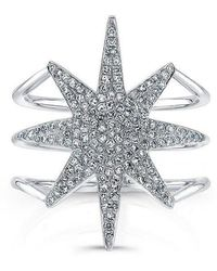 Anne Sisteron | 14kt White Gold Diamond Star Ring | Lyst