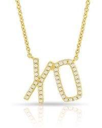 Anne Sisteron - 14kt Yellow Gold Diamond Xo Necklace - Lyst
