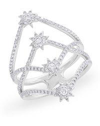 Anne Sisteron - 14kt White Gold Diamond Fireworks Ring - Lyst