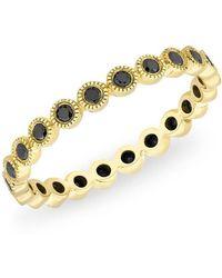 Anne Sisteron - 14kt Yellow Gold Bezel Set Black Diamond Ring - Lyst