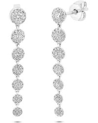 Anne Sisteron - 14kt White Gold Diamond Francesca Earrings - Lyst