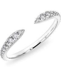 Anne Sisteron - 14kt White Gold Diamond Pierce Ring - Lyst