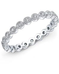 Anne Sisteron - 14kt White Gold Bezel Set Diamond Ring - Lyst