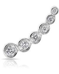 Anne Sisteron - 14kt White Gold Diamond Mini Shooting Star Ear Climber - Lyst