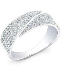 Anne Sisteron - 14kt White Gold Diamond Full Spike Wrap Ring - Lyst