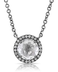 Anne Sisteron - 14kt Oxidized White Gold Diamond Necklace - Lyst