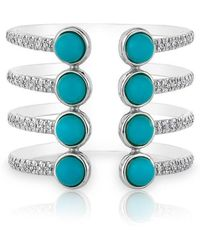 Anne Sisteron - 14kt White Gold Turquoise Diamond Electric Ring - Lyst