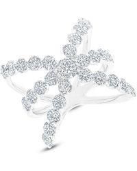 Anne Sisteron - 14kt White Gold Diamond Harper Ring - Lyst