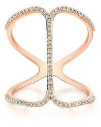 Anne Sisteron - 14kt Rose Gold Diamond Phantom Ring - Lyst