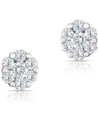 Anne Sisteron - 14kt White Gold Diamond Round Stud Earrings - Lyst