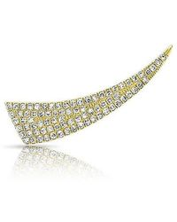 Anne Sisteron - 14kt Yellow Gold Diamond Horn Ear Climber - Lyst