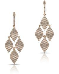 Anne Sisteron - 14kt Rose Gold Diamond Medium Marquis Earrings - Lyst