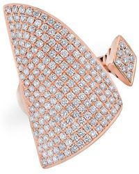 Anne Sisteron - 14kt Rose Gold Diamond Valkyrie Ring - Lyst