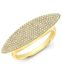 Anne Sisteron - 14kt Yellow Gold Diamond Capri Ring - Lyst