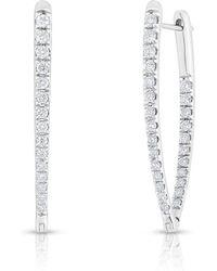Anne Sisteron - 14kt White Gold Diamond Luxe Drop Wishbone Earrings - Lyst