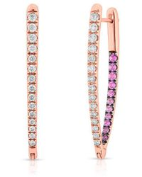 Anne Sisteron 14kt Rose Gold Sapphire And Diamond Luxe Drop Wishbone Earrings