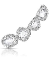 Anne Sisteron - 14kt White Gold Diamond Slice Ear Climber - Lyst