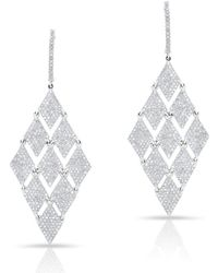 Anne Sisteron - 14kt White Gold Diamond Triangle Chime Earrings - Lyst