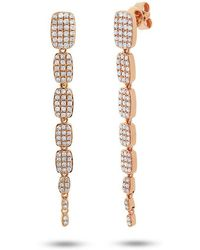 Anne Sisteron - 14kt Rose Gold Diamond Small Sienna Earrings - Lyst